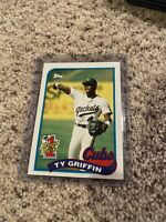 1989 TOPPS TY GRIFFIN #713 CHICAGO CUBS 1st DRAFT PICK