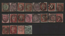 Great Britain London District Numeral Cancel Collection All Diff