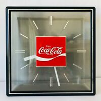 "Coke Wall Clock Enjoy Coca Cola Vintage 1972 Everbrite Electric Signs 13.5"""