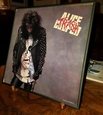 ALICE COOPER●HANDSIGNED●TRASH●LP ADVERTISING●12×12● PIECE OF ROCK HISTORY●FRAMED