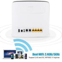 E5186s-22a Cat6 CPE 4G LTE FDD/TDD 300Mbps  Wireless Router WiFi Hotspot US/EU