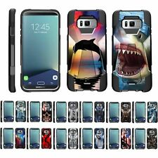 For Samsung Galaxy S8+ G955 Dual Layer Hybrid Kickstand Fitted Case Cover