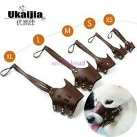 Dog Safety Muzzle Adjustable Biting Barking Chewing Small Medium Large XL L M S