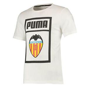 Puma Official Mens Valencia CF Shoe Tag Football Fans T-Shirt Tee Top White