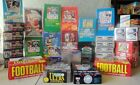 75 OLD VINTAGE UNOPENED FACTORY SEALED FOOTBALL CARDS IN PACKS