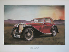 MG  T.B Tickford Midget. Vintage Car Print. MG Print.