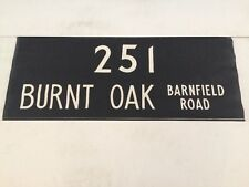 "London Harrow Linen Bus Blind 36""- 251 Burnt Oak Barnfield Road"