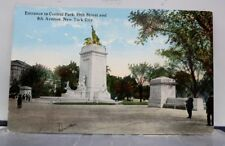 New York NY NYC Central Park 59th Street Entrance Postcard Old Vintage Card View
