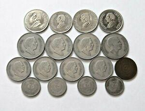 JORDANIEN: Konvolut mit 17 Münzen