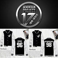 KPOP SEVENTEEN Baseball Uniform Shining Diamond Coat Varsity Jacket Outwear