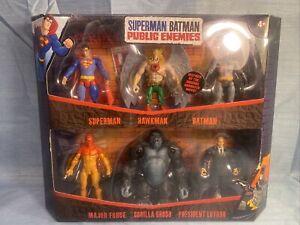 Superman Batman Public Enemies Gorilla Grodd Hawkman Lex Set Of 6 Mattel 2009