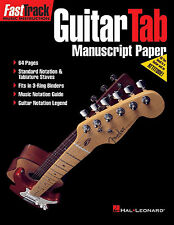 Guitar TAB & Standard Notation Manuscript Paper Sheet Music Book Tablature