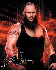 BRAUN STROWMAN #5 (WWE) - 10x8 PRE PRINTED LAB QUALITY PHOTO (SIGNED) (REPRINT)