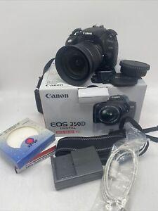 Schöne Canon EOS 350 D mit div. Zubehör