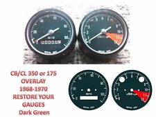 Honda CB 350 175 K Overlay Cafe Racer Gauge Face Decal Applique MPH Dial Clock
