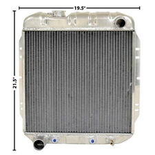 65-66 Mustang 64-65 Falcon Radiator OE Style Aluminum V-8 2 Row Fox302 LH Outlet