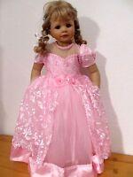 Kleid 122 rosa Blumenmädchen Taufe Geburtstag Festkleid Prinzessin Perlen Neu