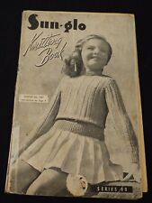 Vintage Sun-glo Knitting Book, Series 99 chidrens patterns - 1940s