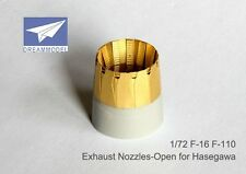 Dream Model 1/72 #0522 F-16 F110 Exhaust Nozzle Etching Parts for Hasegawa
