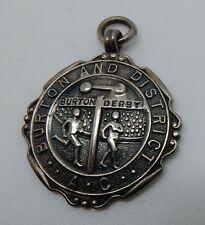 Vintage 1931 Hallmarked Sterling English Burton Derby Track Award Fob