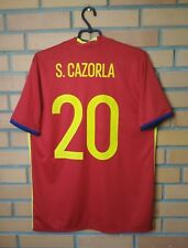 Spain Cazorla Jersey 2015 2016 Home L Shirt Adidas Football Soccer Trikot Maglia