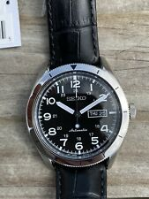 New Old Stock Seiko SRP713 Automatic Men's Watch Black Leather Band MSRP$350