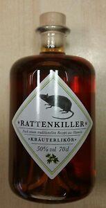 Rattenkiller 0,7 Liter Kräuterlikör 50 % vol. Apothekerflasche Hameln
