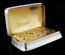 More details for nathaniel mills antique sterling silver vinaigrette c.1840