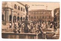 fano piazza con fontana animatissima spedita 1920