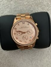 Marc By Marc Jacobs Rose Gold Womens Watch FULL DIAMANTE SURROUND