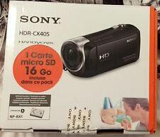 Sony HDR-CX405 Noir + Carte MicroSD 16 Go NEUF -- ----