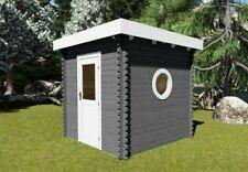Saunahaus Gartensauna Flachdach Gartenhaus Sauna Außensauna Garten Holz mit Ofen