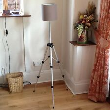 Tripod Lamp Floor Lamp/Table Lamp with Mink Coloured Shade