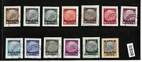 Full set Osten overprints on paper @ Hindenburg Third Reich occupation of Poland