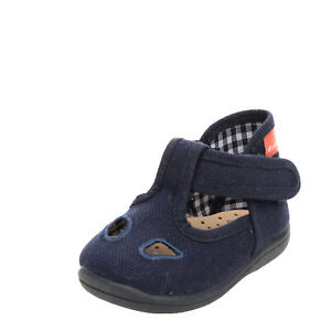 DIAMANTINO Baby Canvas T-Strap Shoes Size 17 UK 1 US 2 Logo Made in Italy