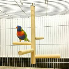 Pet Bird Toys for Cage Parrot Perch 4 Layer Stages Toys Wood Rotating Ladder