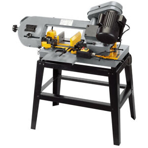 "Draper 5"" 130mm Metal Cutting Horizontal Workshop Bandsaw 3 Speed & Blade 53040"