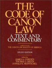 The Code of Canon Law a Text and Commentary, Study Edition, Coriden, James A., A