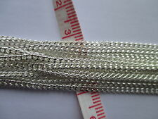UK 10 Meters Silver Jewellery Link Curb Pendant Locket Necklace Chain 2.5 x 2mm