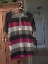 Boy's Carbon short sleeve striped grey/black/red/white round neck T-shirt Medium