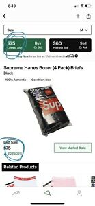 supreme hanes boxer briefs 4 pack
