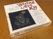 "Vintage McCulla Crafts String Art Kit Frog Sealed New Nos Wall Art 12"" x 12"""