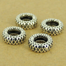 4 Pcs 925 Sterling Silver Spacers Vintage DIY Jewelry Making WSP535X4