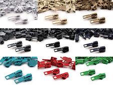 2 Zipper für RV#5 Profilreißverschlus autolock Metallzipper 5mm