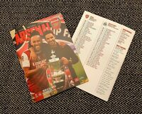 Arsenal v Newcastle United FA CUP 3RD ROUND Programme 9/1/21! READY TO DISPATCH!