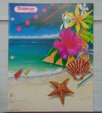 Vtg 1989 Trapper Keeper Portfolio Folder Ocean Beach Shells Flowers Mead Corp