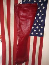 Vintage Newport News Jeanology Red/Purple Leather Pants!