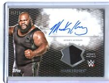 WWE Mark Henry 2015 Topps Undisputed Black Autograph Relic Card SN 41 of 50