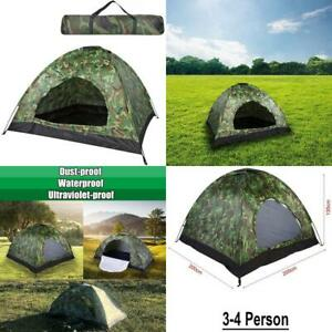 Camping Tent,3-4 Person Camping Dome Tent Camouflage , Waterproof Instant Ca