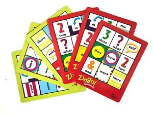 Zingo Sight Words 2012 Game Replacement Cards Full Set of 6 - Two Sided ThinkFun